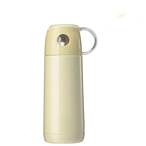 350ml Edelstahl Isolierbecher Mode Damen Edelstahl Isolierung Cup Reise wesentliche Isolierung Tasse , elegant yellow , 350ml