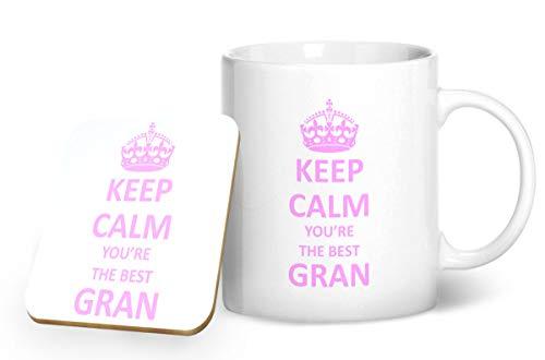 Keep Calm You' re The Best gran tazza e sottobicchiere abbinati–stampato tazza & sottobicchiere set regalo