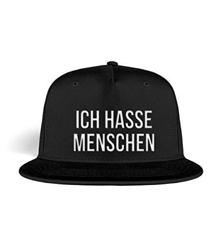 PlimPlom Ich Hasse Menschen Snapback Kappe Baseball Cap Cooles Design Gestickt Für Damen und Herren - Kappe