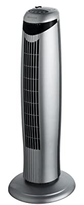 Honeywell HO-1100RE Oscillating Tower Fan with Remote Control - Chrome