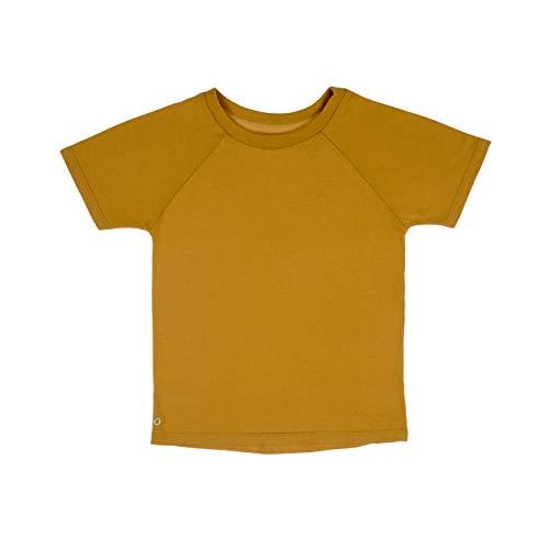 Orbasics Junge Mädechen Unisex Kinder Baby T-Shirt Shirt, 100% GOTS Zertifiziert Bio Baumwolle, Premium Qualität (1-2 Jahre (92), Honey Gold)