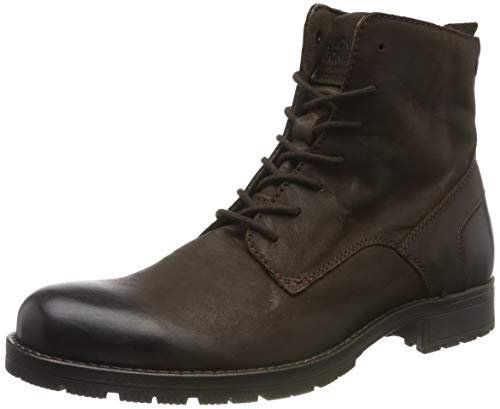 JACK & JONES Herren JFWORCA Leather Brown Stone 19 Klassische Stiefel, Braun, 44 EU