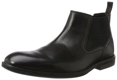Clarks Herren Prangley Top Klassische Stiefel, Schwarz (Black Leather), 44.5 EU (Boot-schwarz Clarks)