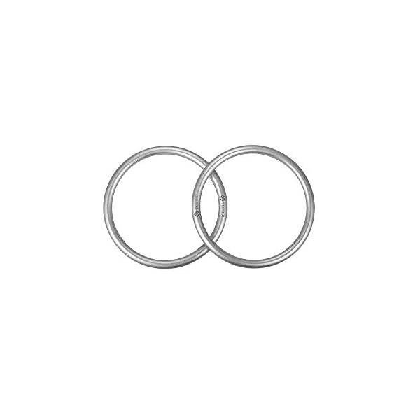 """Topind 3"""" Large Size Aluminium Baby Sling Rings for Baby Carriers & Slings of 2 pcs Silver TOPIND Great replacement aluminium rings for your baby sling rings Get a much more intimate way to touch your baby You can choose the color you like 2"""