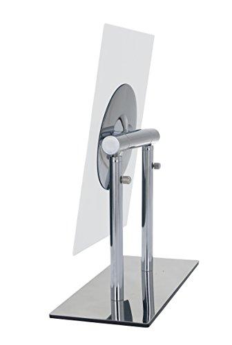 WENKO 3656420100 Kosmetik-Standspiegel Pinerolo - klappbar, Stahl, 23 x 27-35 x 10 cm, Chrom - 4