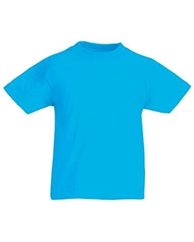 Fruit of the Loom Kinder T-Shirt, kurzarm (14-15-jährige) (Azurblau) 14-15-jährige,Azurblau