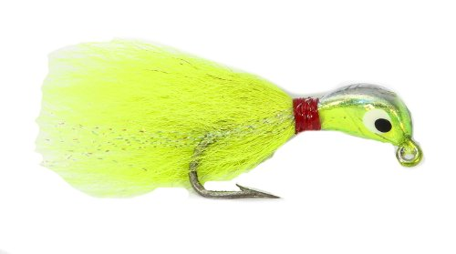 Boone Tout 4/0 Buck Tail Lure, Chartreuse / plata, 1/2-ounce