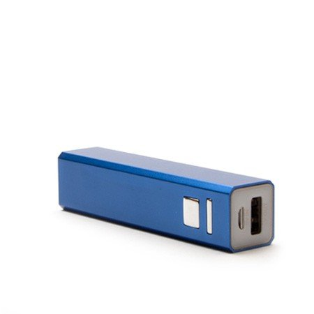 Metall PowerBank by aricona - 2200 mAh in blau USB Power Bank, externer universal Zusatzakku in Mini Format, tragbares ultra kompaktes Design für Handys, Smartphones, Tablets & weitere mobile Geräte
