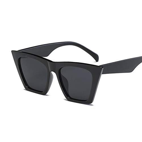 Kjwsbb Weinlese-Damen übergroße Katzenauge-Sonnenbrille-Frauen-Spiegel-Blaue Sonnenbrille für weibliche Oculos