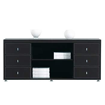 Büromöbel Aktenschrank Seitenschrank schwarz Sideboard Padova