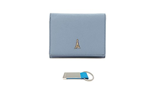 womens-compact-small-wallet-with-zip-coin-pocket-purse-sky-blue