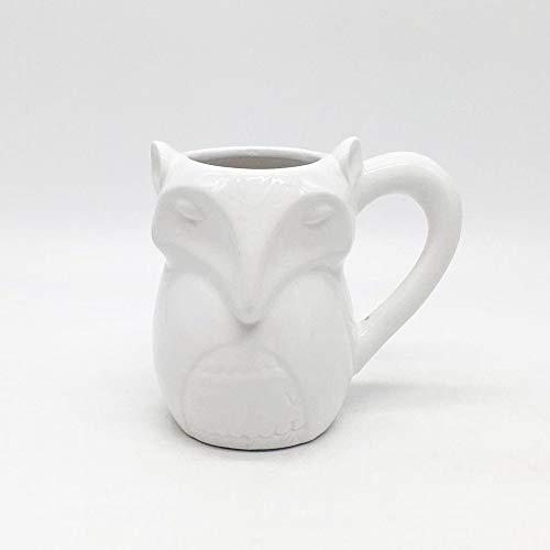 (DORMFDU Becher Keramik Werbung TasseHeavyCeramicFox CupSonderform 3D Cartoon Keramik, Weiß, 301-400Ml)