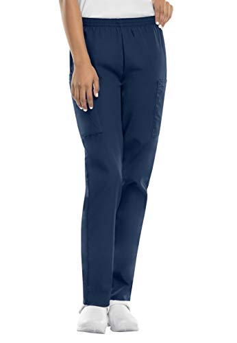 Smart Uniform Ladies Pull on Trouser T-0617 (M, Navy1) -
