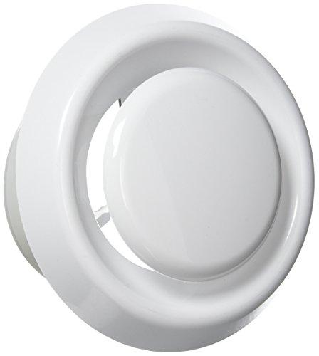 Blauberg UK Viral Protein R 100100mm rund Kunststoff und für Abluftventilator Ventilation–Weiß
