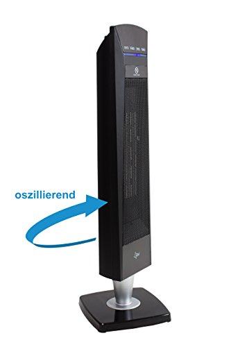 SUNTEC PTC-Heizlüfter Heat Tower PTC Design 2000 OSC [Für Räume bis 35 m³ (~15 m²), 3 Heizstufen + 2 Leistungsstufen, Oszillation, Timer + Fernbedienung, 2000 Watt] - 3