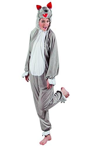 Boland 88038 Erwachsenenkostüm Wolf aus Plüsch, M/L (Für Glatze-mütze Kinder)