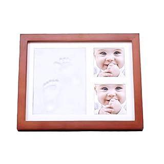 ASTA Baby Handprint Kit & Footprint Photo Frame,Gift Born, Wooden Photo Frame Baby Shower or Christening Gift