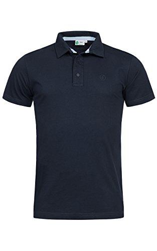 Banqert Herren Polo, Faire Löhne, Made in Mauritius Poloshirt-s Polohemd-en Funktionsshirt Männer Shirt-s Kurzarm einfarbig-e Hemd-en Dunkelblau L