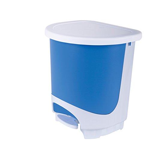 Dicoal - Papelera cubo pedal 30l azul
