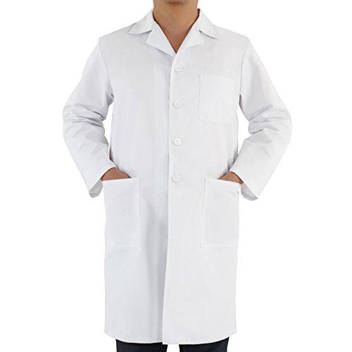 Doctors Workwear Medical Lab White Coat Uniform in Sizes XS-XXL (M (size 40-42))