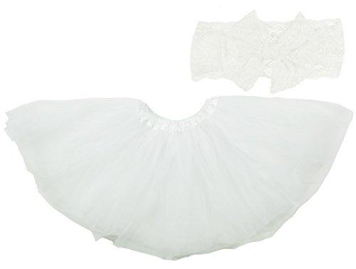 llrock Ballettrock Classic m. Passendem Haarband Weiß Classic 2-4 Jahre ()