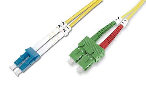 Sc Duplex 3m (DIGITUS LWL Patch-Kabel Glasfaser - 3-m OS2 - SC APC auf LC Stecker - Fiber Netzwerk - Duplex - Single-Mode 09/125 µ)