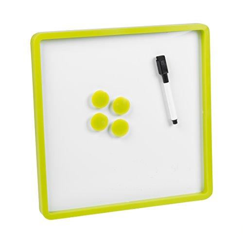 30cm x 30cm 6Stück Magnetisches Whiteboard & Farbigem Rahmen grün -