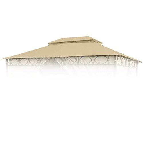 BURI Ersatzdach Natur für Cape Town Garten-Pavillon 4x3m Pavillondach Kaminabzug