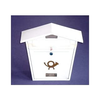 Aboria Steel Plate Post Box White (104358)