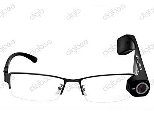 CTO Versteckte Kamera Brille 1080P Videokamera Brille Cam Eyewear Dvr Camcorder Video Audio Recorder Optische Brille Winddicht Digital Cam Drahtlose Jagd Outdoor Sport Glas,A,Brille