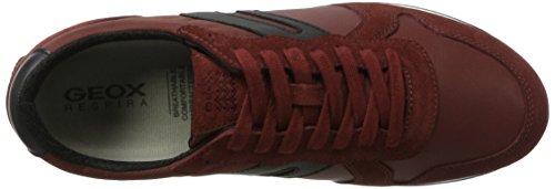 Geox U Vinto C, Sneakers Basses Homme Rouge (Wine/black)