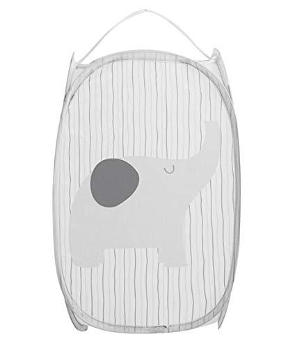 Faltbarer Wäschekorb für Schmutzwäsche, Wäschekorb für Kinder, Spielzeug, Schuhe, Kleinkinder (Elefant)