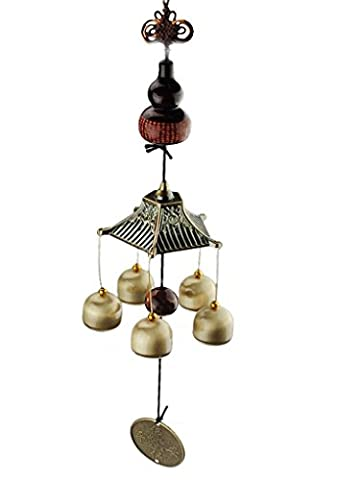 BWINKA Traditionnel Bonne Chance Chromées Windminds Cuivre Bronze Bells Big Wind-chime Accueil Hanging Ornament Decoration Cadeau d'anniversaire Cadeau de