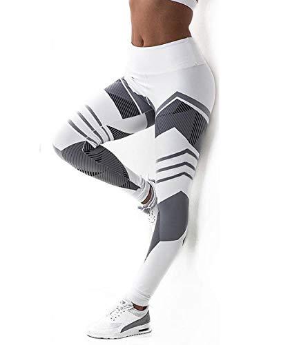 Edited Leggings para Mujer Leggings Negros Deportivos o Casuales para