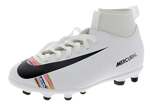 Nike Superfly 6 Club Cr7 MG, Scarpe da Calcio Unisex – Bambini, Bianco (White/Black/White 109), 36 EU (3 UK)