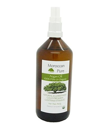 Moroccan Pure Organic, 100% Natural Moroccan Argan Oil - Nourishing and Protective Heat Pressed Cold Hair Oil 200ml Glass Product