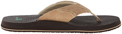 Home Fashion Fault Line rembourré hommes de tongs/Sandales Marron - Tan/Brown