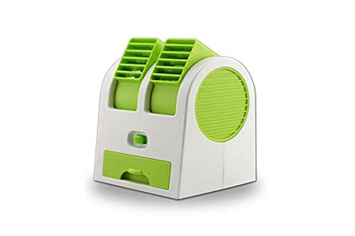House of Gift Usb Air Mini Small Conditioner Fan Cooling Portable Desktop Dual Bladeless (Color May Vary)  available at amazon for Rs.299
