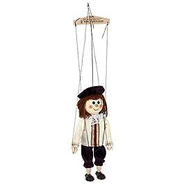 ABA 20 cm, Motivo: Principe Marionette Giocattolo in Legno, Multicolore