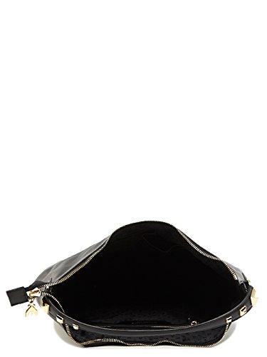 Patrizia Pepe Golden Fly Sac à main porté épaule cuir 35 cm nero
