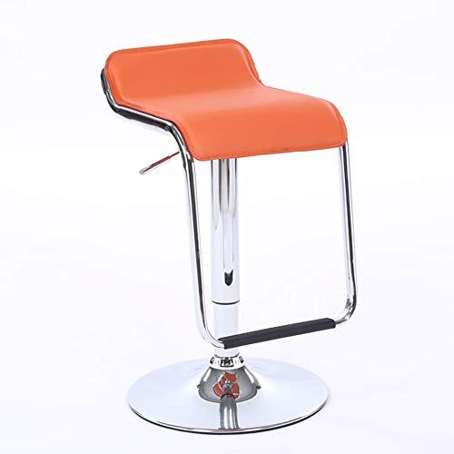 ROSEEH S-Form Bar Rezeption Drehbar Lounge-Sessel Hochstuhl,Orange -
