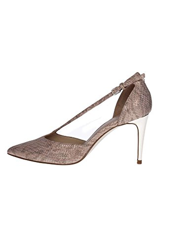 DECOLLETE GUESS DONNA BEKKI IN PELLE STAMPA PITONE COLORE SILVER FLBKK2LEP08 Rosa