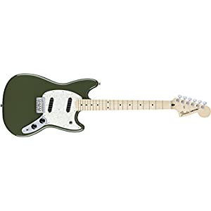 Fender Mustang MN Olive · Chitarra elettrica