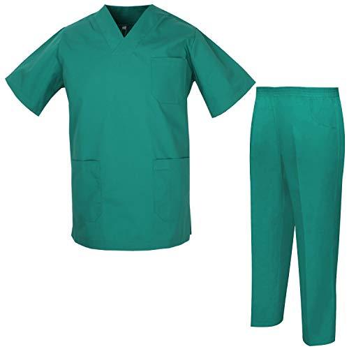 MISEMIYA - Unisex-Schrubb-Set - Medizinische Uniform mit Oberteil und Hose ref.8178 - Medium, Grün