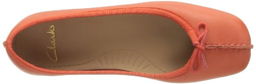 Clarks Freckle Ice, Ballerine Donna arancione (Orange (Orange Leather))