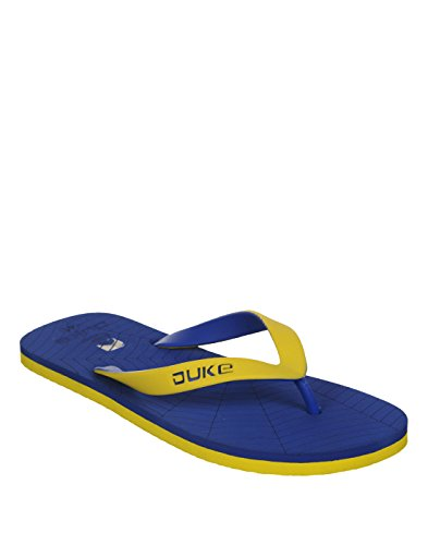 Duke Men's Blue & Yellow Coloured Pvc Slippers 6  available at amazon for Rs.250