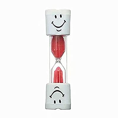 Kids Toothbrush Timer ~ 2 Minute Smiley Sand Timer for Brushing Children's Teeth : everything 5 pounds (or less!)