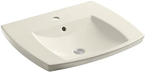 Kohler K-2381-1-47 Kelston Self-Rimming Lavatory with Single-Hole Faucet Drilling, Almond