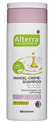 Mandel-Creme-Shampoo Bio-Argan & Bio-Mandel - Ohne Silikone - Naturkosmetik - Geschmeidigkeit und Tiefenpflege