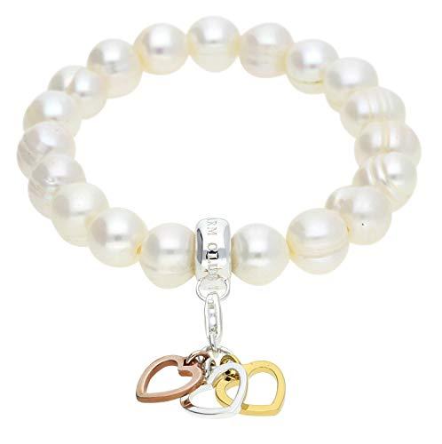 Thomas Sabo Damen Charm-Armband 925 Silber weiß/silber AIR-A1323-450-14-M -